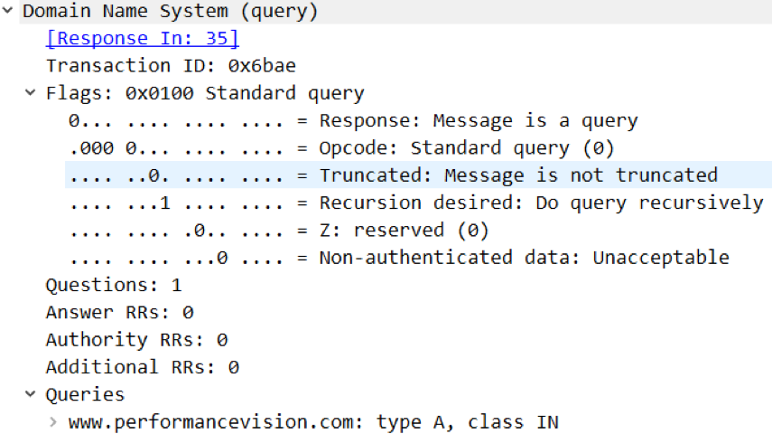 dns query structure