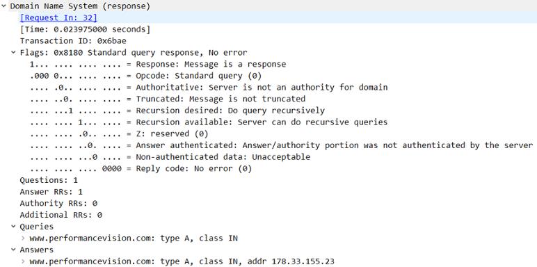 dns query response